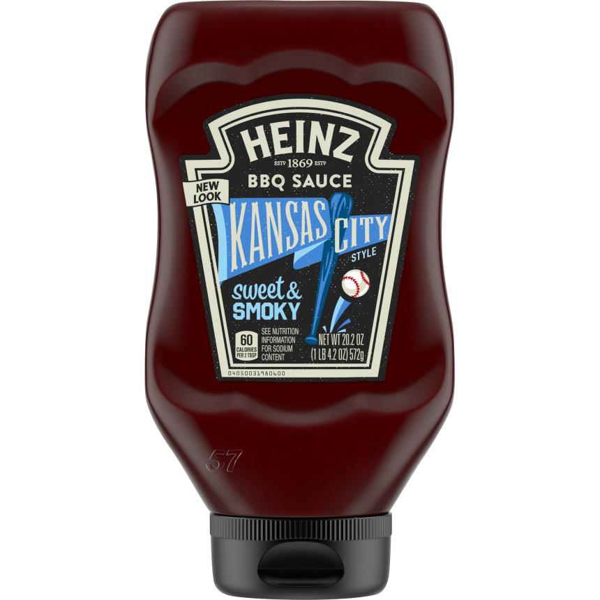 Heinz Kansas City Style Sweet & Smoky BBQ Sauce, 20.2 oz Bottle image
