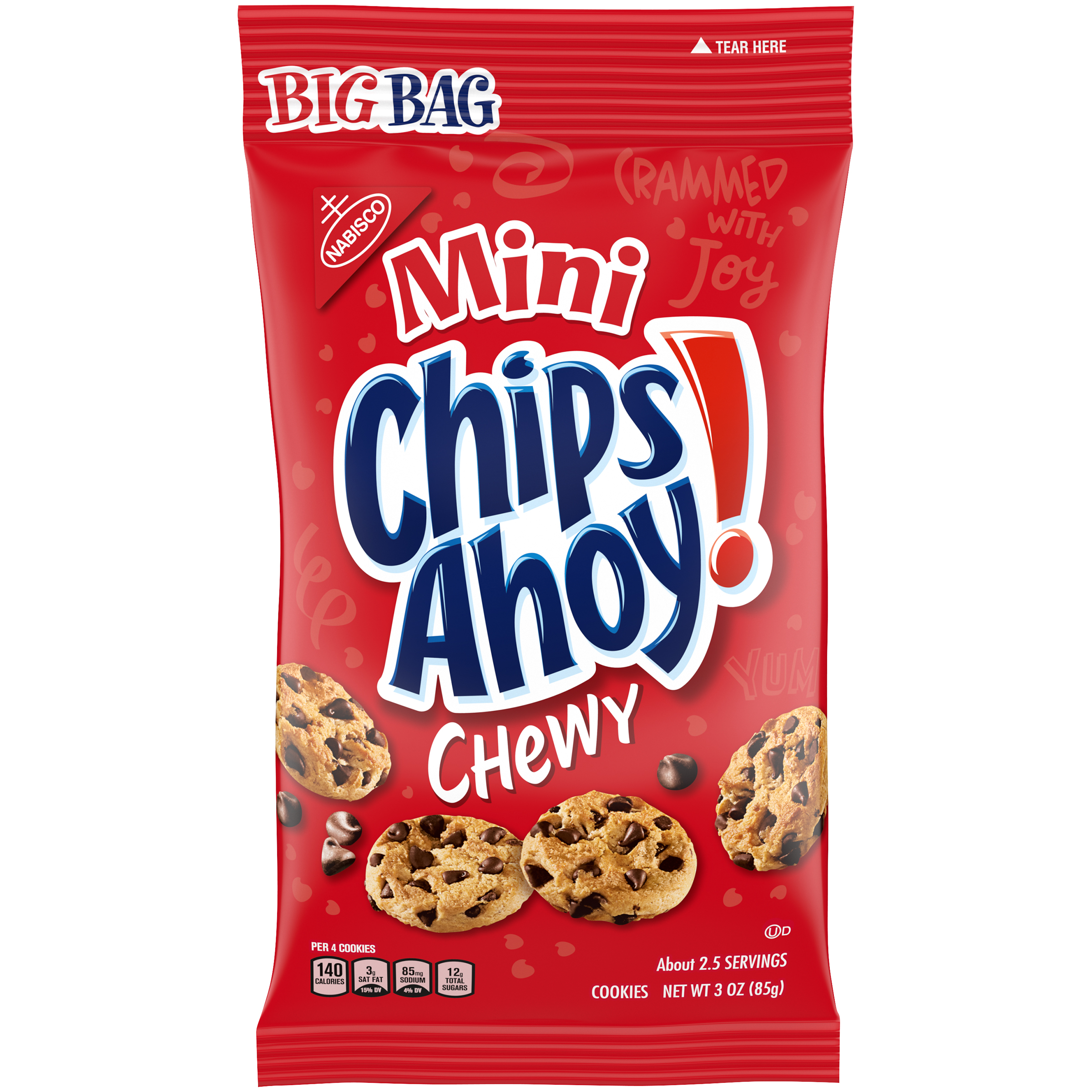 CHIPS AHOY! Mini Chewy Chocolate Chip Cookies, 1 Big Bag (3 oz.)