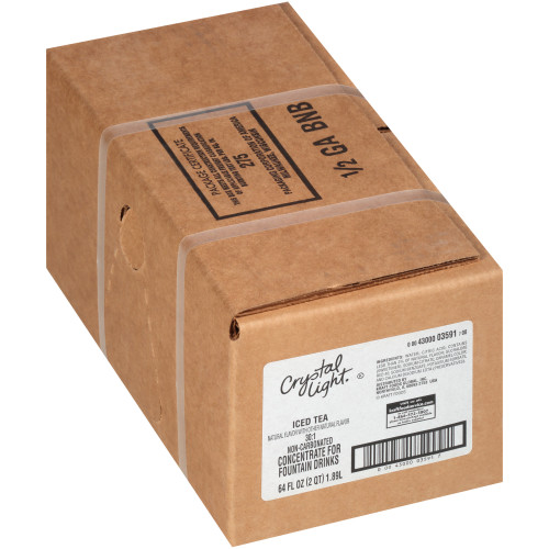 CRYSTAL LIGHT Lemon Iced Tea Bag-in-Box Liquid Concentrate, 64 oz. Bag