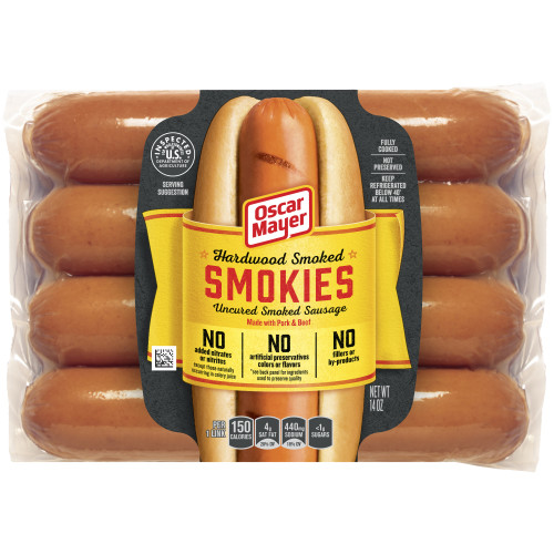 Oscar Mayer Smokies Uncured Smoked Sausage, 14 oz