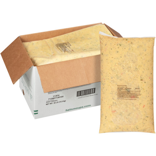 HEINZ TRUESOUPS Broccoli Cheddar Soup, 8 lb. Bag (Pack of 4)