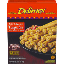Delimex White Meat Chicken Corn Taquitos 18 count Box