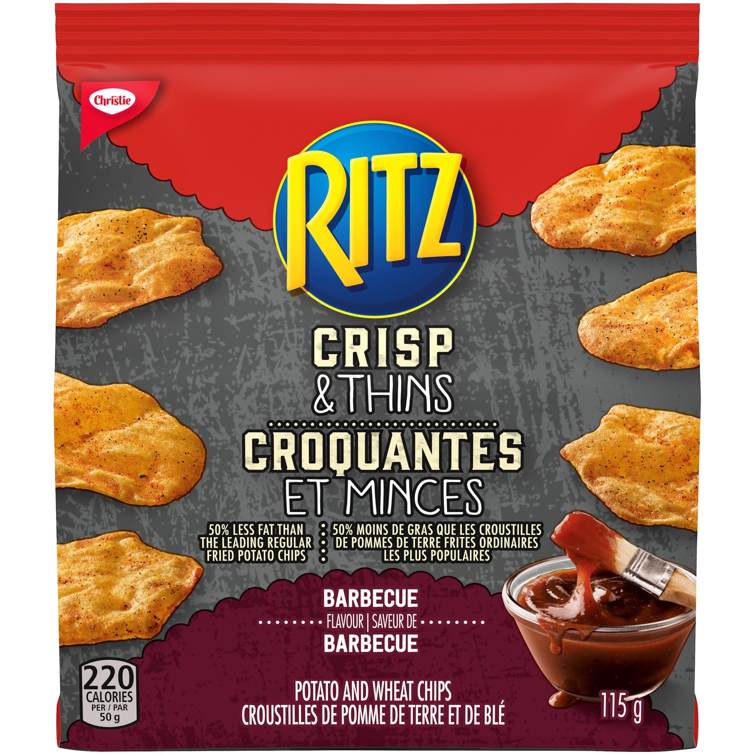 Ritz Crisp & Thin Barbecue Crackers 115 G