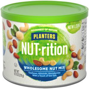 Planters NUT-Rition Snack Nuts - Almonds, Cashews & Macadamia, 9.75 oz. image