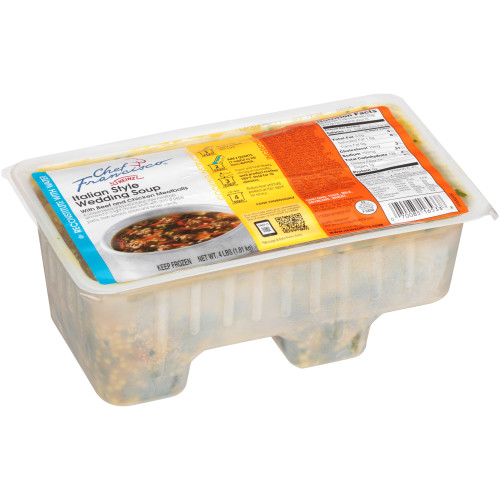 HEINZ CHEF FRANCISCO Italian Style Wedding Soup, 4 lb. Tub (Pack of 4)