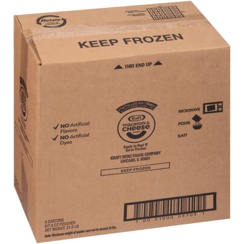 KRAFT Single Serve Frozen Mac & Cheese, 8-7 oz. Pouches (Pack of 6)