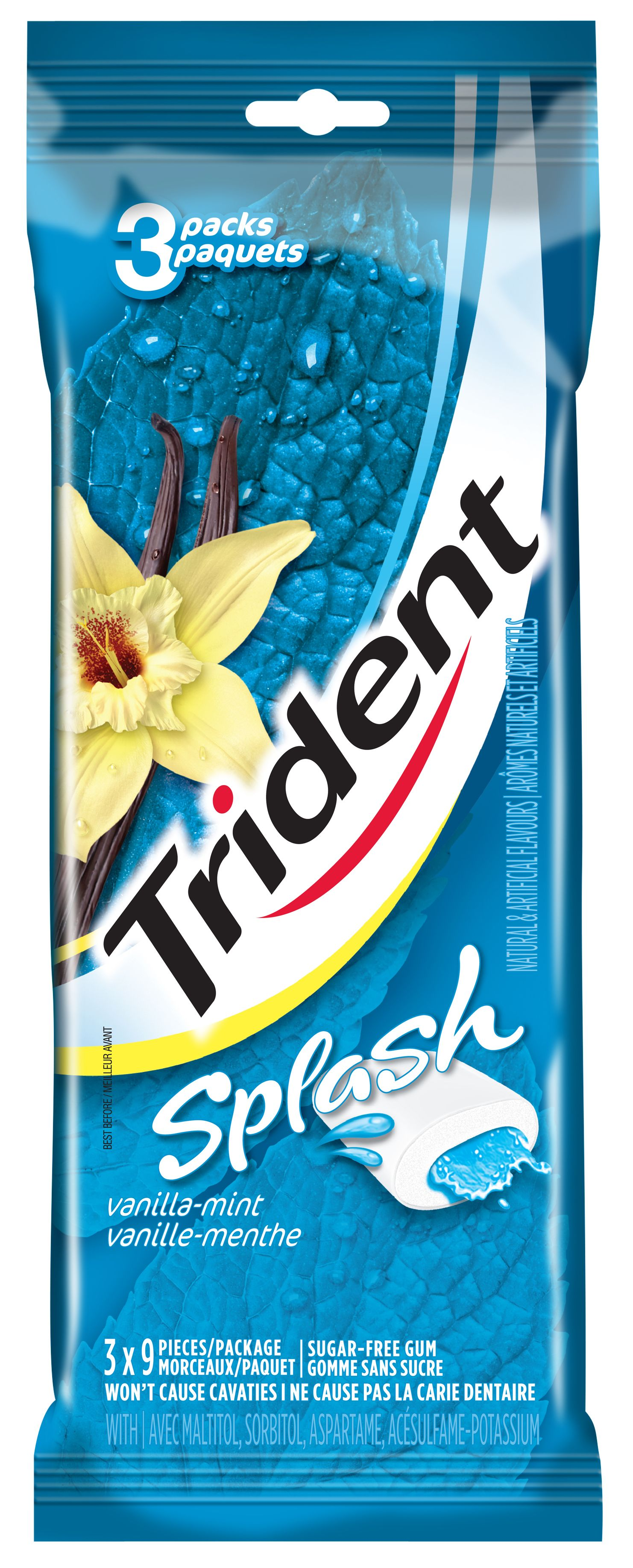 Trident Splash Vanilla Mint Gum 27 Count