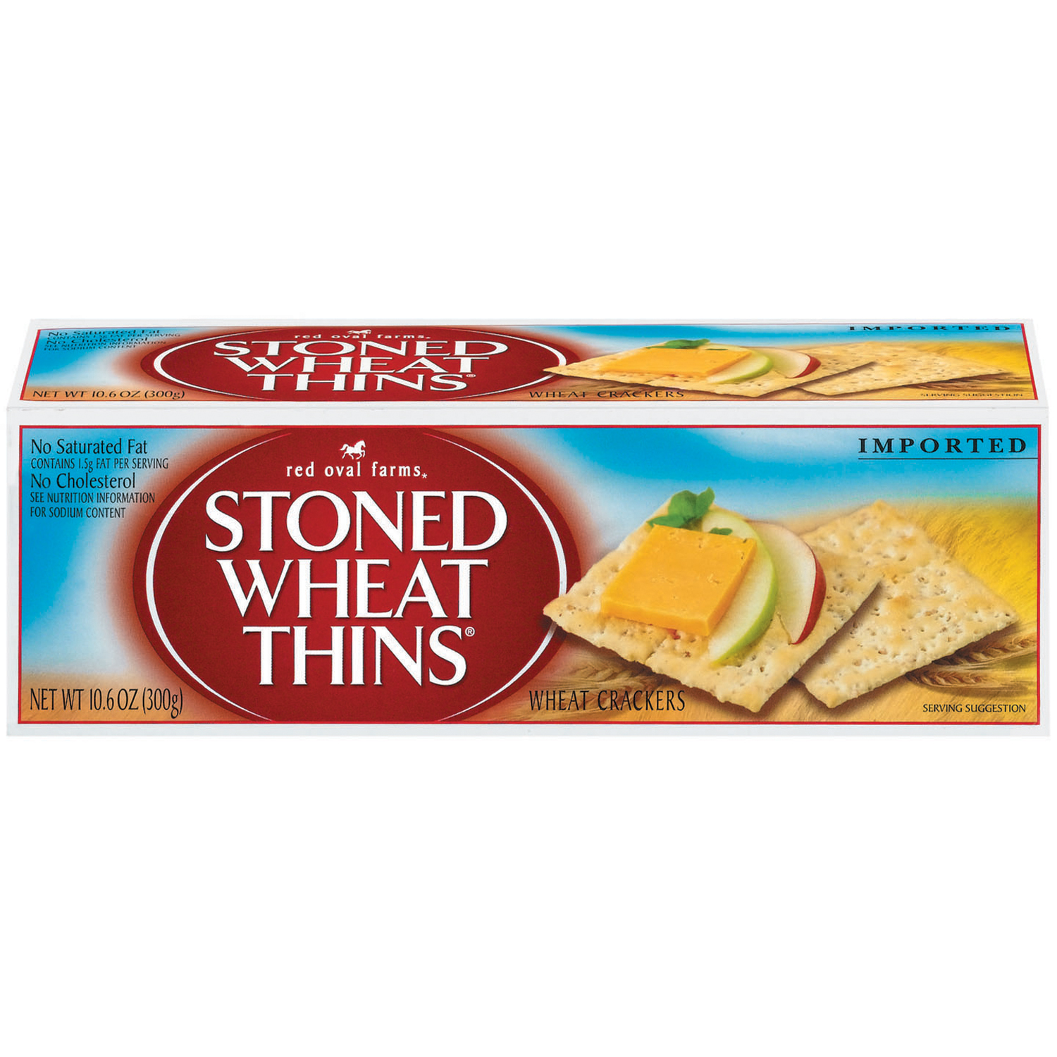 RED OVAL FARMS Stoned Wheat Thins Low Sodium Crackers 10.6 oz