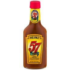 Heinz 57 Shipper Summer 2008 & Steak Sauce 10 Oz Glass Bottle image
