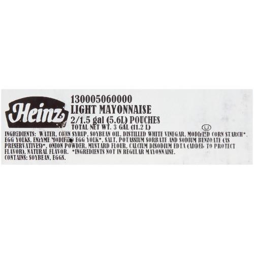 HEINZ Light Mayonnaise Dispenser Pack, 1.5 gal. (Pack of 2)