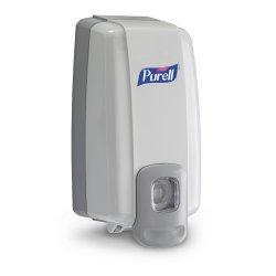 Purell NXT Space Saver Hand Hygiene Dispenser, Dove Gray Plastic Push Bar 1000 mL Wall Mount, 2120-06 - EACH