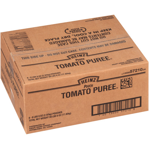 HEINZ Tomato Puree, 105 oz. Pouch (Pack of 6)
