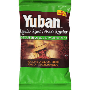 YUBAN Decaffeinated Roast & Ground Coffee, 1.1 oz. Pouches (Pack of 42) image