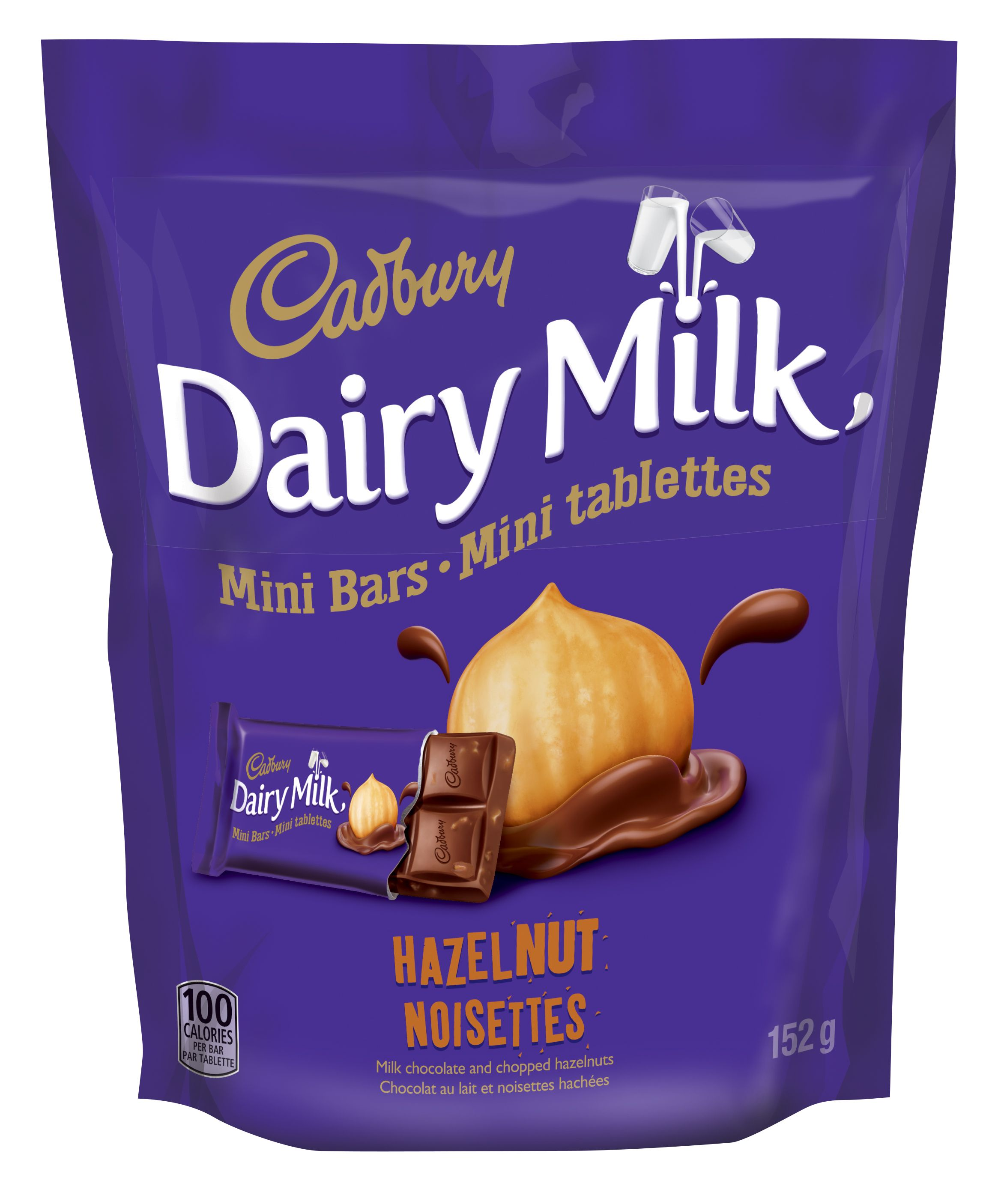 Cadbury Dairy Milk Noisette Tablette De Chocolat-Mini 152 G