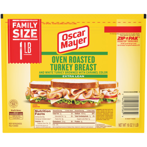 OSCAR MAYER Oven Roasted Turkey Breast 16 oz Pack
