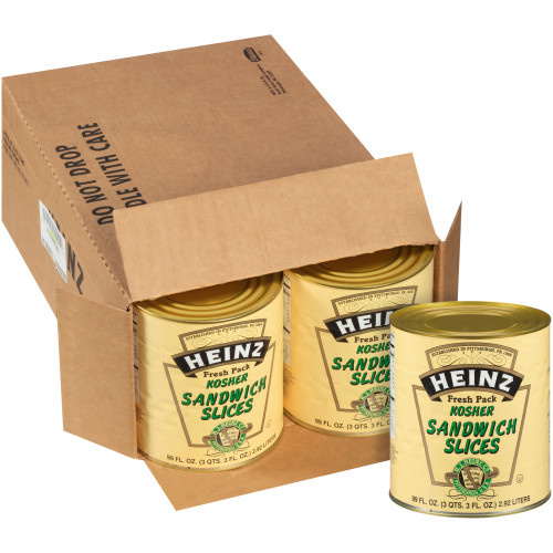 HEINZ Hoagie Dill Pickle #10 Can, 99 fl. oz. (Pack of 6)
