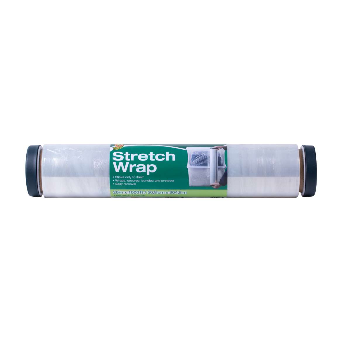 Duck® Brand Stretch Wrap Film - Clear, 20 in. x 1,000 ft. Image