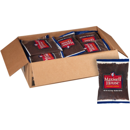 MAXWELL HOUSE Instant Soluble Coffee, 4 oz. Bag (Pack of 24)