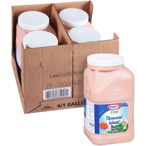 KRAFT Bulk Fat-Free Thousand Island Salad Dressing, 1 gal. Jug (Pack of 4)