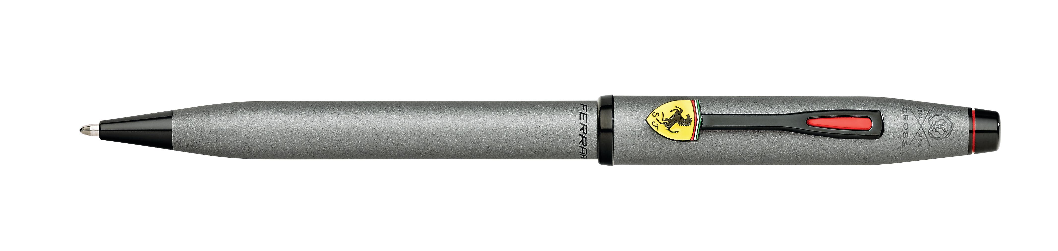 Cross Century II Collection for Scuderia Ferrari Titanium Gray Satin Lacquer Ballpoint Pen