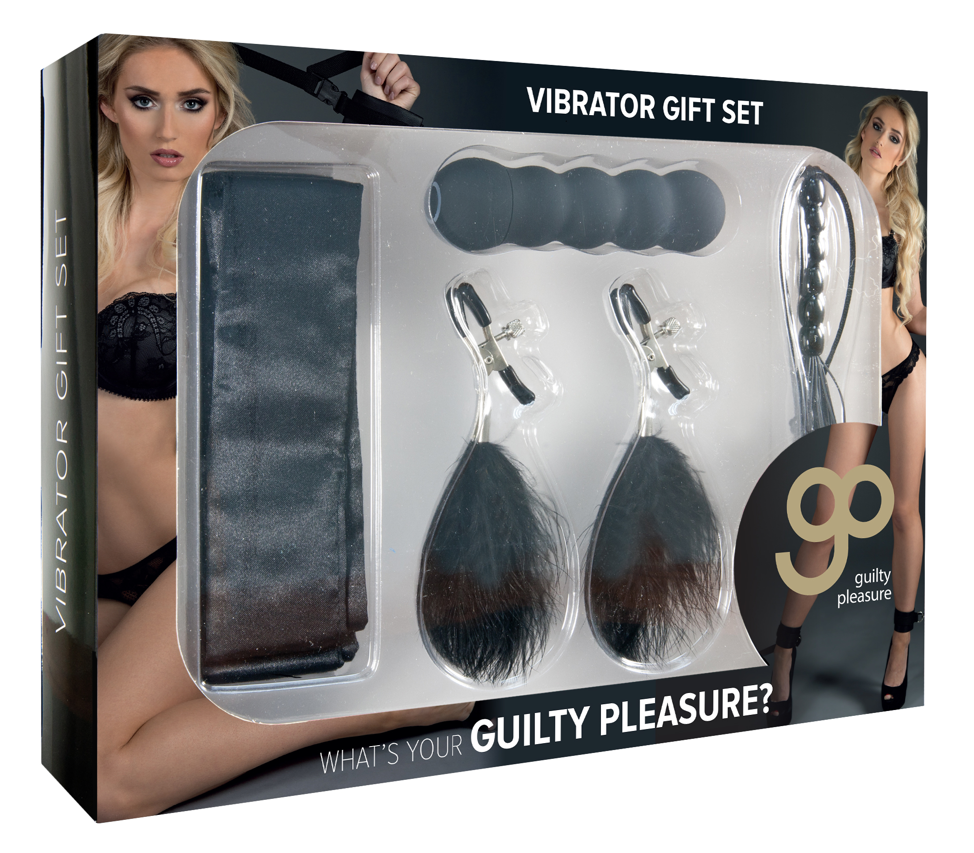 Guilty Pleasure - Vibrator Gift Set - Black