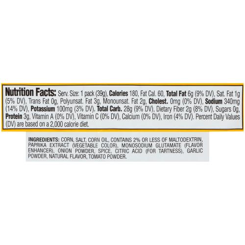 CORNNUTS Chile Picante con Limon Flavored Crunchy Corn Kernels, 1.4 oz. Single Serve, (Pack of 144)