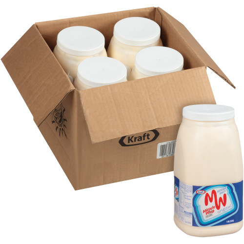KRAFT Bulk Miracle Whip Mayonnaise, 1 gal. Jug (Pack of 4)