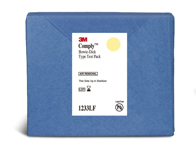 3M Comply Sterilization Bowie-Dick Test Pack Steam, 1233LF - Case of 30