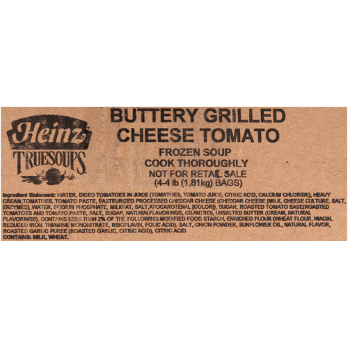 HEINZ TRUESOUPS Buttery Grilled Cheese and Tomato Soup, 4 lb. Bag (Pack of 4)