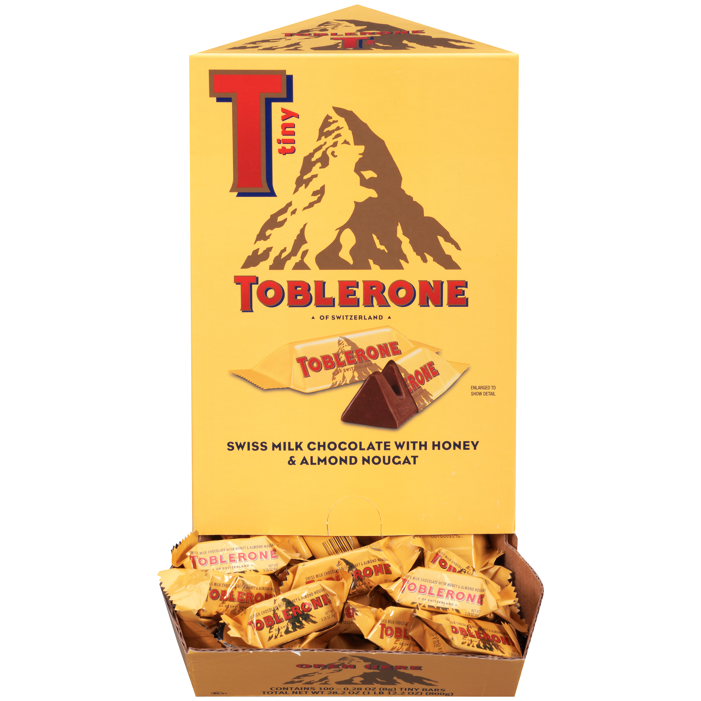 TOBLERONE Milk Chocolate Chocolate Bar-Minis 882 lb