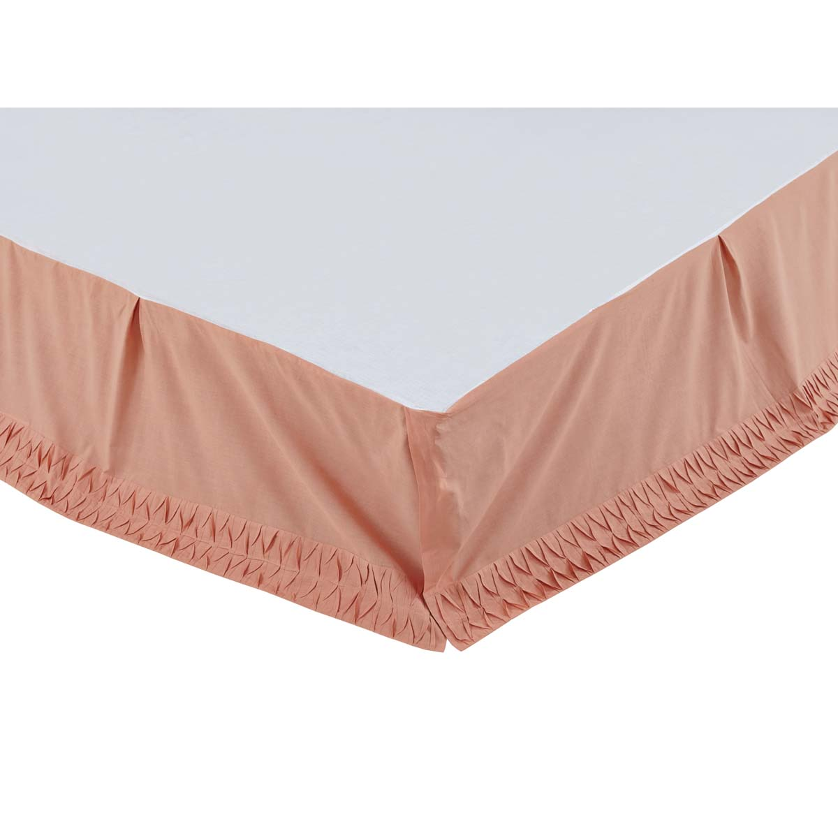 Adelia Apricot King Bed Skirt 78x80x16