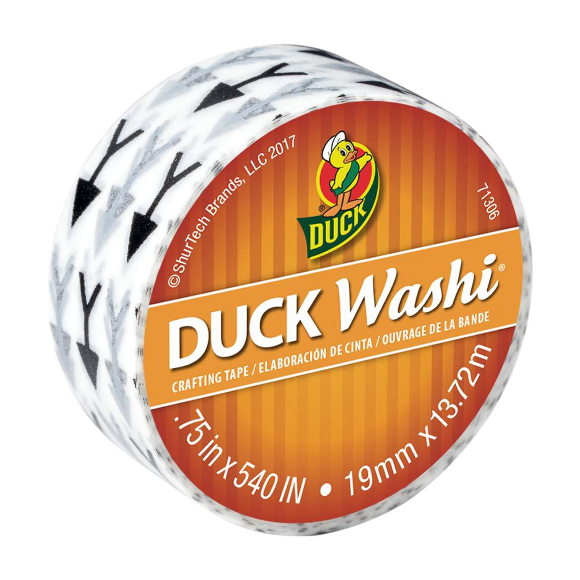 Duck Washi® Crafting Tape - Arrows, 0.75 in. x 15 yd. Image