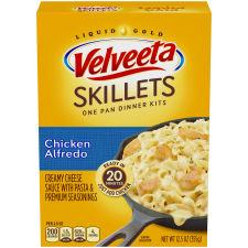 Velveeta Cheesy Skillets Chicken Alfredo Dinner Kit, 12.5 oz Box