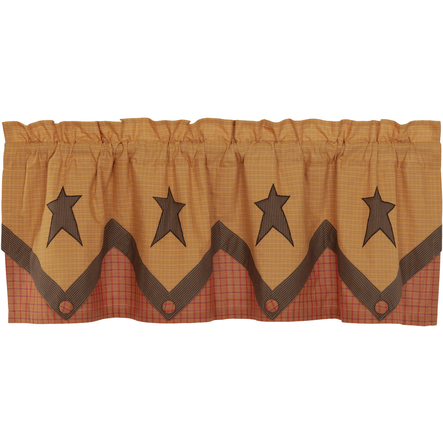 Stratton Primitive Star Valance Layered 20x60