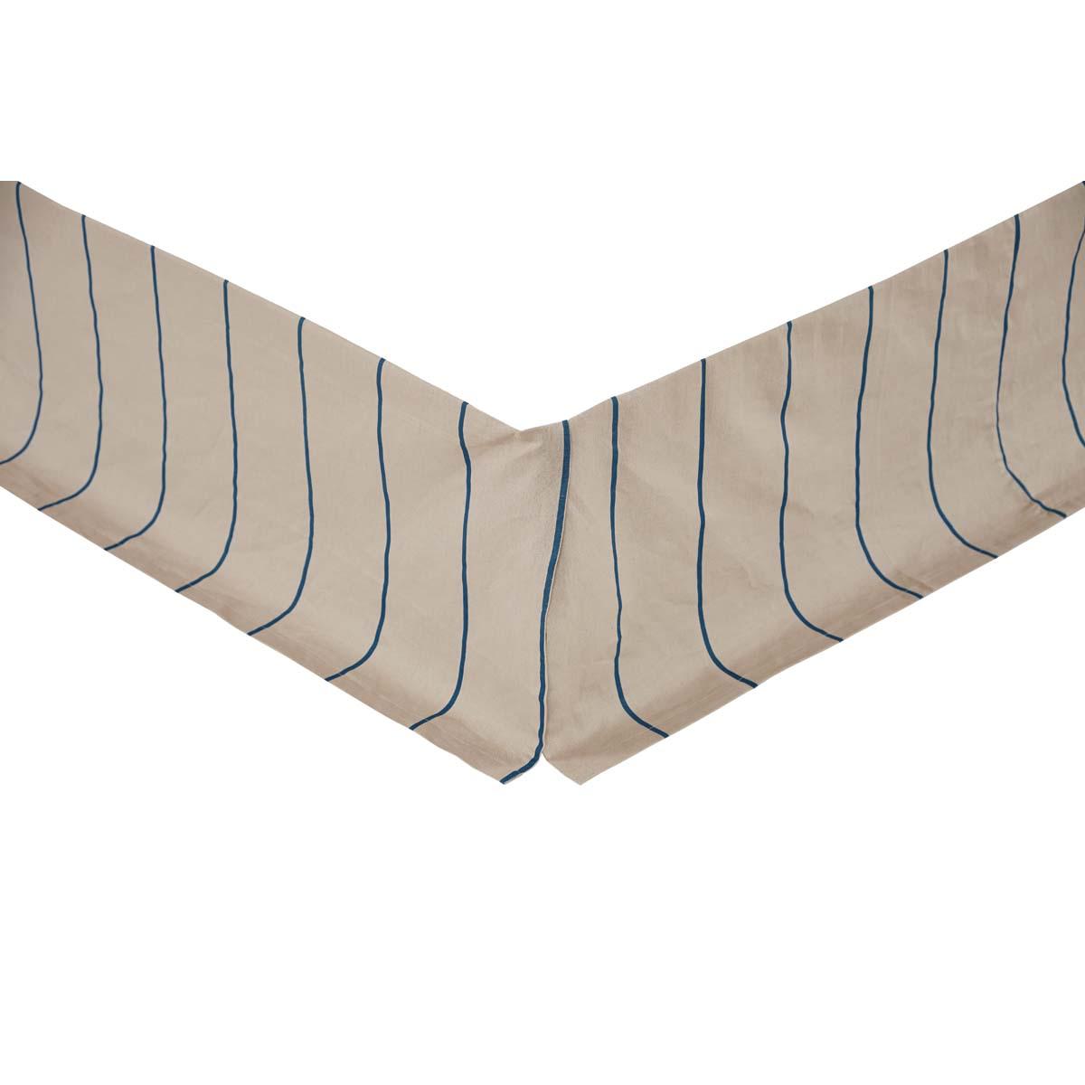 Charlotte Azure Twin Bed Skirt 39x76x16