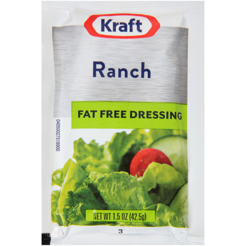 KRAFT Single Serve Fat-Free Ranch Salad Dressing, 1.5 oz. Packets (Pack of 60)
