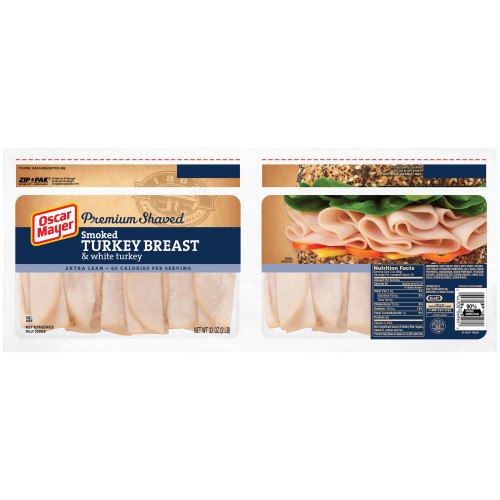 Oscar Mayer Smoked Turkey Breast and White Meat Wrapper, 32 oz