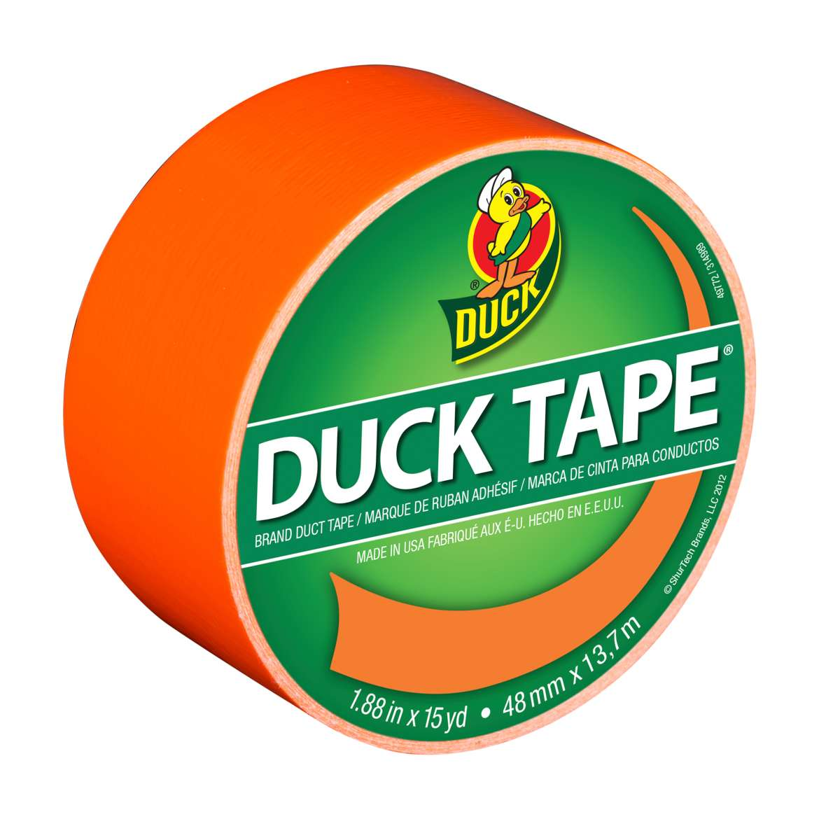 Color Duck Tape® Brand Duct Tape - Neon Orange, 1.88 in. x 15 yd. Image