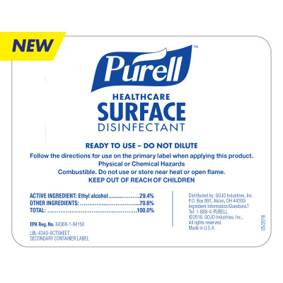 Bottle Label – PURELL® Healthcare Surface Disinfectant
