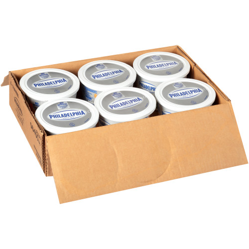 PHILADELPHIA Chive & Onion Cream Cheese, 3 Lb. Tub (Pack of 6)