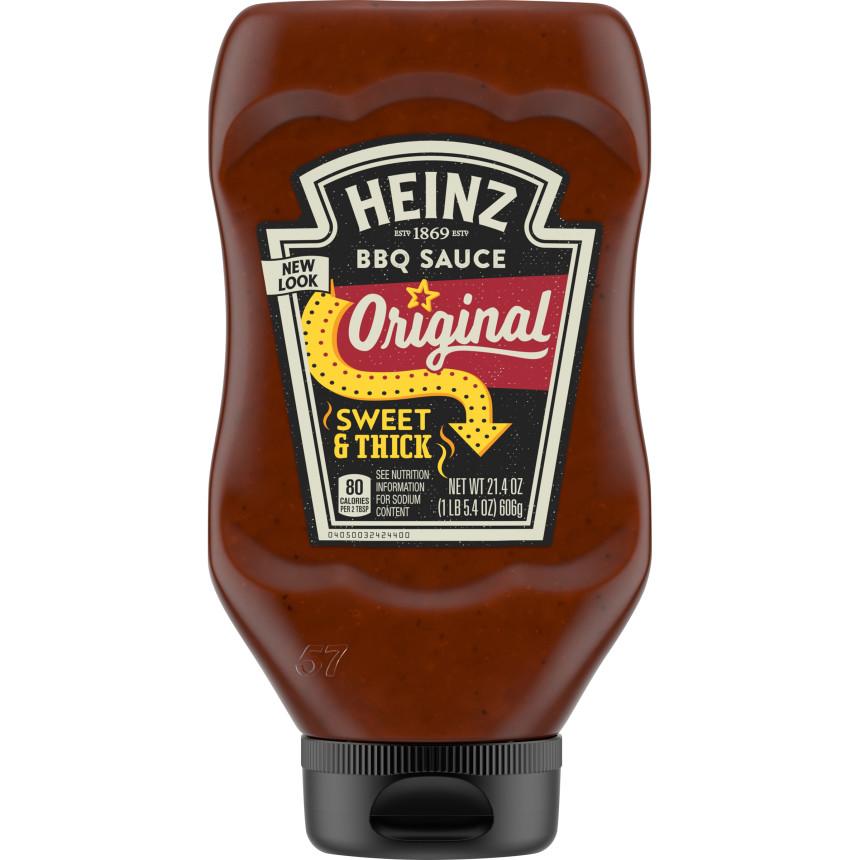 Heinz Classic Original Barbecue Sauce, 21.4 oz Bottle image