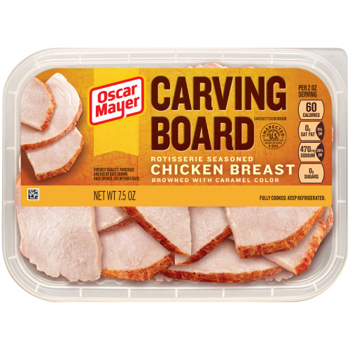 Oscar Mayer Carving Board Rotisserie Chicken Breast Tray, 7.5 oz