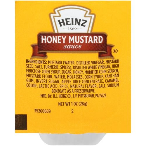 HEINZ Single Serve Honey Mustard, 1 oz. Cups (Pack of 100)