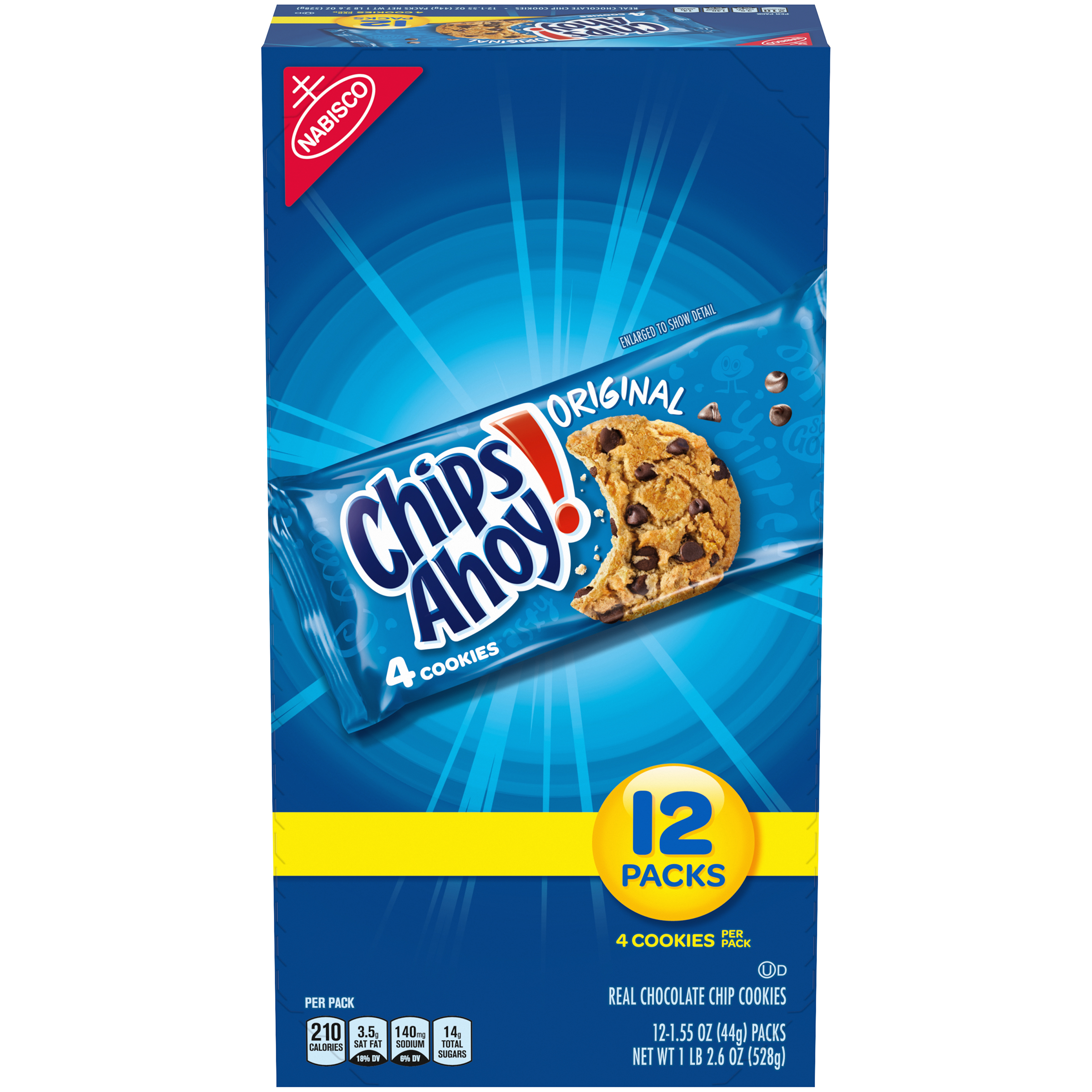 CHIPS AHOY! Cookies-Single Serve 18.6 oz