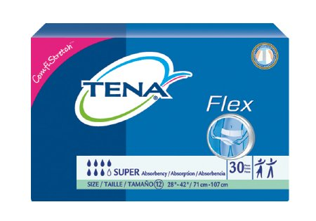 TENA Flex Super Adult Belted Undergarment TENA Flex Super Tab Closure Size 12 Disposable Heavy Absorbency, 67805 - Pack of 30