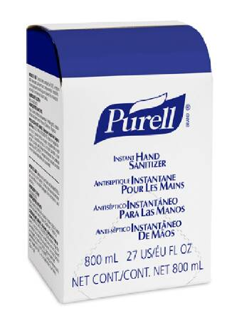 Purell Hand Sanitizer 800 mL Ethyl Alcohol Gel Bag-in-Box, 9657-12 - Case of 12