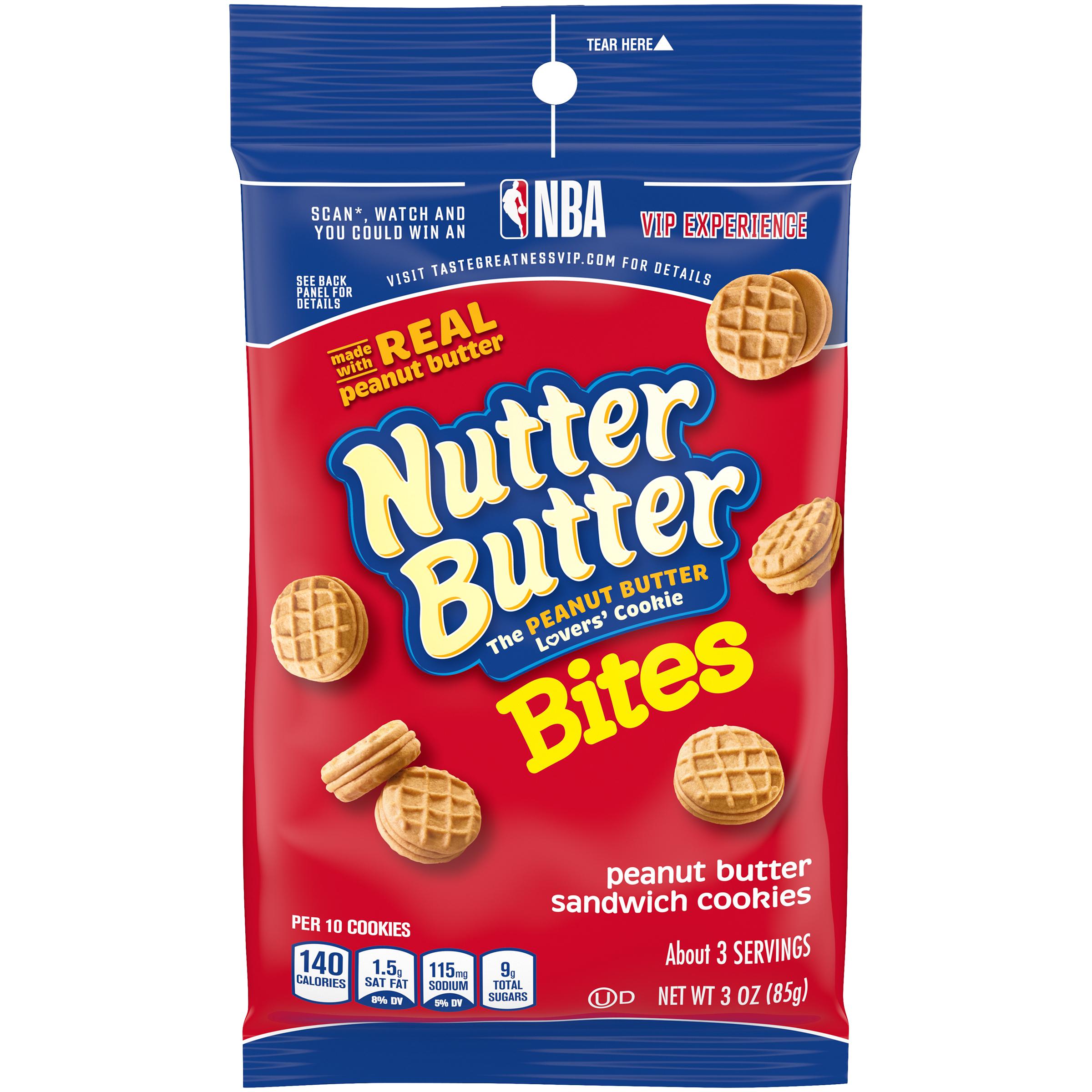 NUTTER BUTTER Bites Cookies-Single Serve Big Bag 3 oz