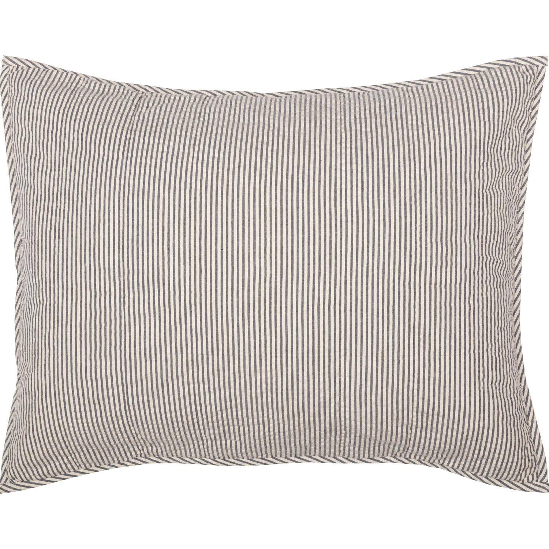 Hatteras Seersucker Blue Ticking Stripe Standard Sham 21x27