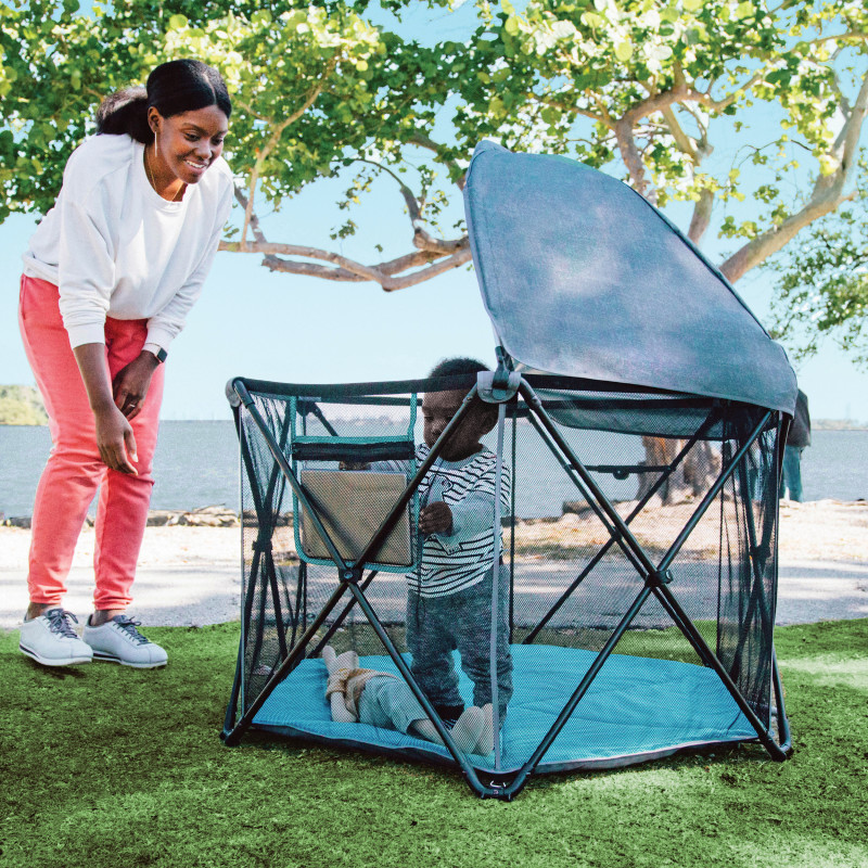 Play-Away™ Portable Playard (Cedar Grove) Lifestyle Photo