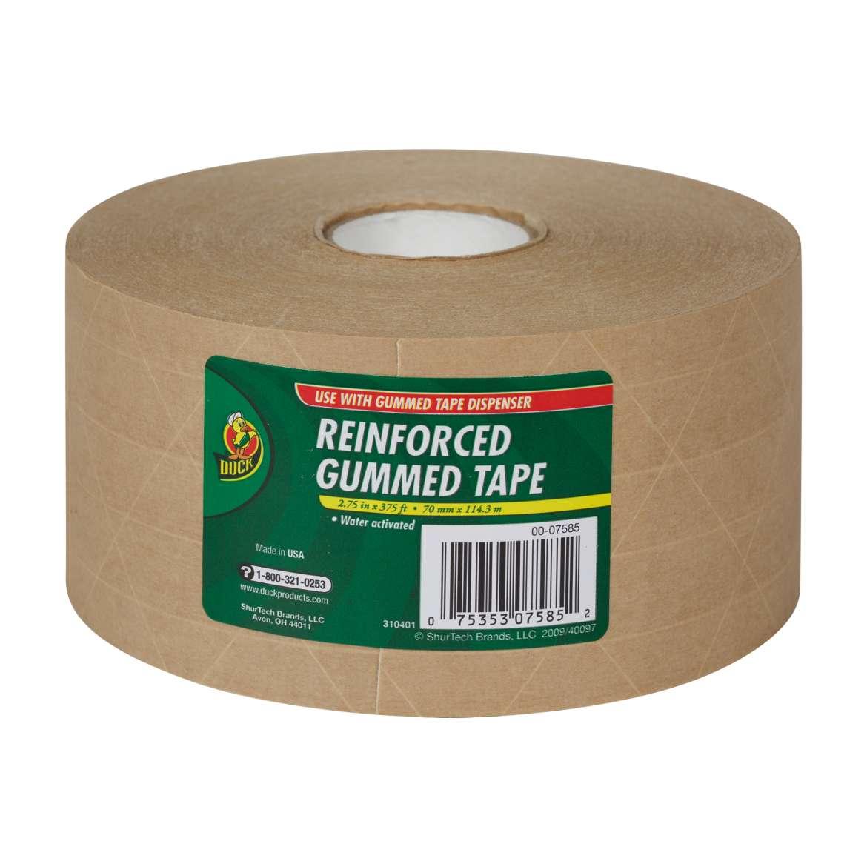 Duck® Brand Reinforced Gummed Tape - Tan, 2.75 in. x 375 ft. Image